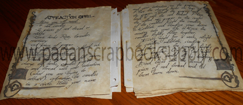 Secret Circle Replica Spell Pages